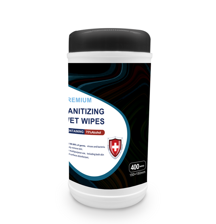 Sanitizing Wet Wipes 400 pcs canister packing 75% Alcohol
